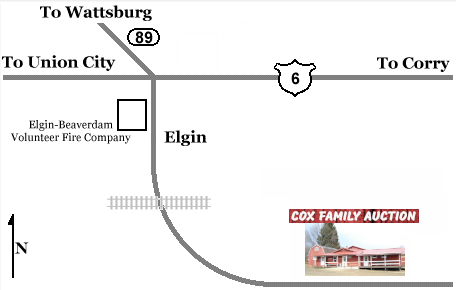 cox auction house map